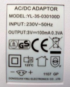 WP-450 adapter specs
